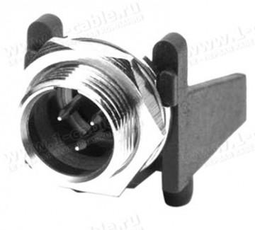 Фото1 AG.MCCH Разъём mini XLR, монтажный штекер под пайку на горизонтальную плату