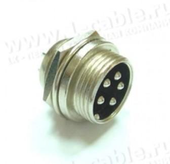 Фото1 DS1110-PM0. Разъем DS1110, панельный, штекер, резьбовое соединение