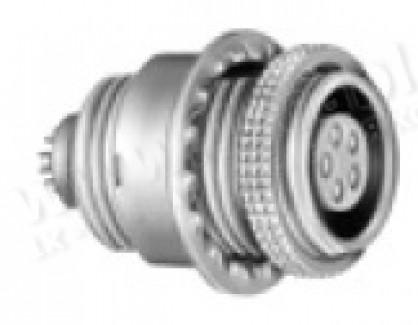 Фото1 ESG.00.30..CLL Панельный многоконтактный разъём гнездо, крепление резьба/2 гайки, серия B, IP50