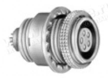 Фото1 ESG.1B.30..CLL Панельный многоконтактный разъём гнездо, крепление резьба/гайка, серия B, IP50