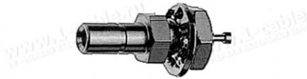 Фото1 J01190A0001. Разъём SSMB, монтажный, штекер, 50 Ом, пайка, фронтальное крепление