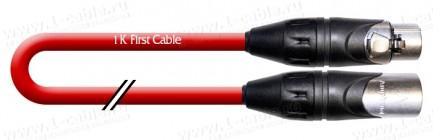 Фото3 1K-A11-..RT Кабель звук балансный, Basic, XLR3 гнездо > XLR3 штекер, красный