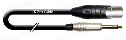 Фото1 1K-AMB25-.. Кабель микрофонный, Basic, XLR3 штекер > Jack 6,3 stereo штекер