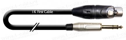 Фото1 1K-AMB26-.. Кабель микрофонный, Basic, XLR3 гнездо > Jack 6,3 stereo штекер