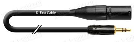 Фото1 1K-AMB33-.. Кабель микрофонный, Basic, XLR3 штекер > Jack 3.5 stereo штекер