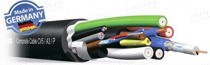 Фото1 CV5/.3/P Кабель комбинированный: 5x видео (HD-SDI; YC; RGBHV; Composite) + 3x аудио + силовой кабель