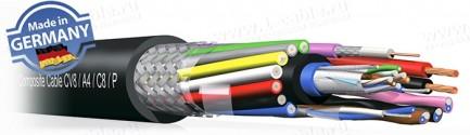 Фото1 CV8A4C8P. Кабель комбинированный: 8x видео (75 Ом) + 4x аудио + 8x управление + силовой кабель
