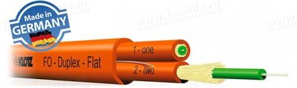 Фото1 F-DL02..X.. Кабель оптоволоконный, дуплексный, DUPLEX-FLAT I-V(ZN)HH 2 x ../125, в двойной изоляции,