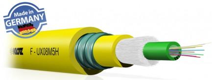 Фото1 F-UX..HX Кабель оптоволоконный, усиленная защита волокон (металлическая броня), инсталляционный, U-D