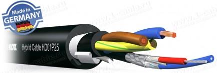 Фото1 HD01P.5 Кабель комбинированный: 1х DMX-Цифровой Звук + Питание + Несущий корд