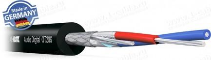 Фото1 OT206. Кабель для цифровых аудиосигналов/DMX, AWG24, двойной экран: плетеный + фольга