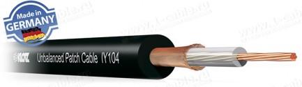 Фото1 IY104SW - Кабель инструментальный / патч (0.22 мм2) AWG24, эластичный, медный витой экран