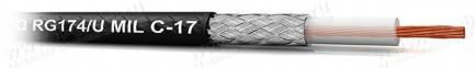Фото1 RG174/U MIL C-17 - Кабель высокочастотный RG174 (50 Ом) 2.6мм