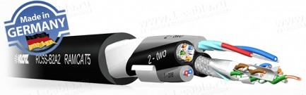 Фото1 RC5S-B2A2 - Кабель комбинированный: 2x Aудио AES/EBU + Витая пара (CAT5e)
