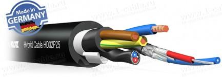 Фото1 HD02P25 - Кабель комбинированный: 2х DMX-Цифровой Звук + Питание + Несущий корд