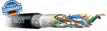 """Фото1 RC6-LB1S - Патч-кабель """"Витая пара"""", эластичный для работы внутри и вне помещений, 6/6A кат., SF/UTP"""