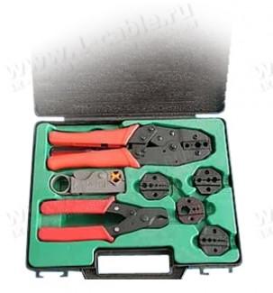 Фото1 NT-330K - Набор инструмента из 8 предметов, для монтажа коаксиальных разъемов на любой коаксиальный
