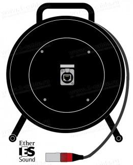 Фото1 1K-E1/0X-1.. InterCON кабельная система на катушке, барабан 1x Ethernet 5E RJ-45 гнездо > 1x Etherne