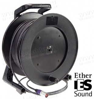 Фото2 1K-E1/0X-1.. InterCON кабельная система на катушке, барабан 1x Ethernet 5E RJ-45 гнездо > 1x Etherne