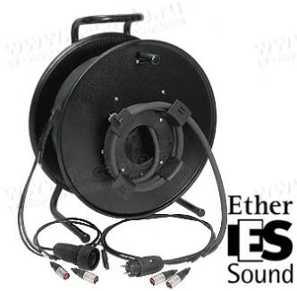 Фото2 1K-E2P1/0X-1.0 InterCON кабельная система на катушке, 2x Ethernet 5E RJ-45 штекер, SCHUKO штекер > 2