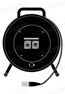 Фото1 1K-OT1/1-1.0 DMX1/AES-EBU кабельная система на катушке, XLR5 гнездо-штекер (параллель) > кабель XLR5