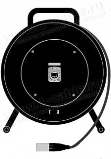 Фото1 1K-OT2/1-1.0 DMX2/AES-EBU кабельная система на катушке XLR5 гнездо > кабель XLR5 штекер