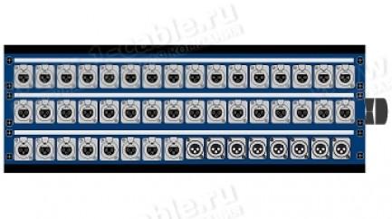 Фото1 1K-PB../.. 48-кан.(40-IN/8-OUT) коммутационная коробка в сборе Panel Box (40x XLR3 гнездо, 8x XLR3 ш