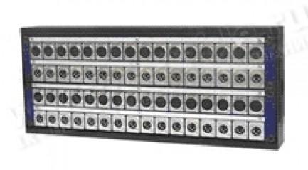 Фото2 1K-PB../.. 48-кан.(40-IN/8-OUT) коммутационная коробка в сборе Panel Box (40x XLR3 гнездо, 8x XLR3 ш
