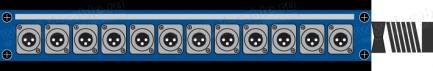 Фото1 1K-PB0/12-X.. 12-кан.(12-OUT) коммутационная коробка в сборе Panel Box (12x XLR3 штекер)