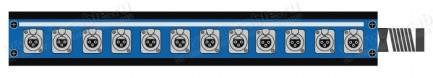 Фото1 1K-PB12/0-X.. 12-кан.(12-IN) коммутационная коробка в сборе Panel Box (12x XLR3 гнездо)