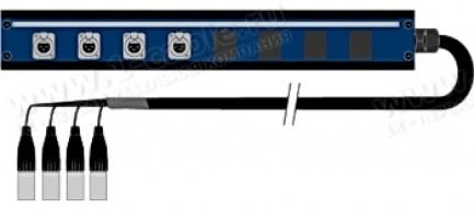 Фото1 1K-PB1UPW4XB-.. 4-кан.(4-IN) студийная мультикорная система Panel Box (4x XLR3 гнездо) > коса (4x XL