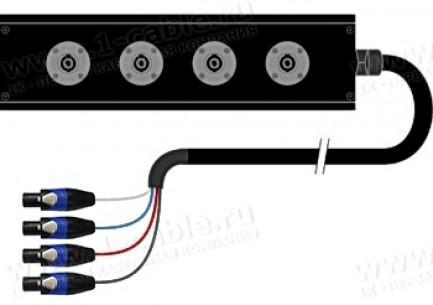 Фото1 1K-PB2ULSCF4AA-.. 4-кан.(4-IN) акустическая мультикорная система Panel Box (4x Speakon2 гнездо) > ко