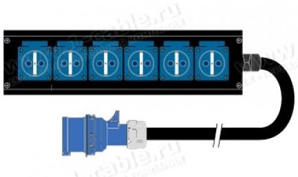 Фото1 1K-PB2UPCRNF6SH-.. 6-IN силовая система Panel Box (6x SHUKO гнездо) > СЕЕ32А штекер
