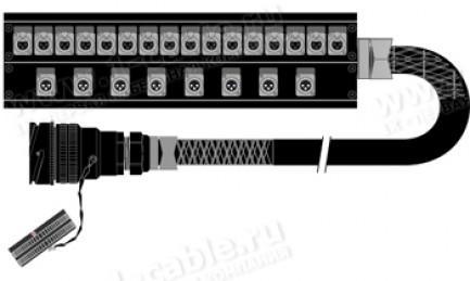 Фото1 1K-PB2UPW16/8TB-.. 24-кан.(16-IN/8-OUT) студийная мультикорная система Panel Box (16x XLR3 гнездо, 8