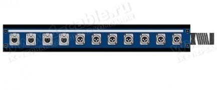Фото1 1K-PB4/8-X.. 12-кан.(4-IN/8-OUT) коммутационная коробка в сборе Panel Box (4x XLR3 гнездо, 8x XLR3 ш