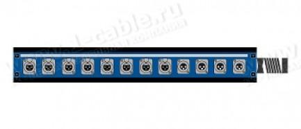 Фото1 1K-PB8/4-X.. 12-кан.(8-IN/4-OUT) коммутационная коробка в сборе Panel Box (8x XLR3 гнездо, 4x XLR3 ш