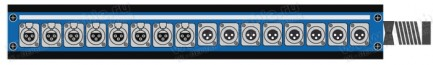 Фото1 1K-PB8/8-X.. 16-кан.(8-IN/8-OUT) коммутационная коробка в сборе Panel Box (8x XLR3 гнездо, 8x XLR3 ш