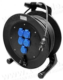 Фото2 1K-PCRNF1/1P-1.0 Силовой кабельный удлинитель на катушке, 1 гнездо SCHUKO > штекер SCHUKO, IP44