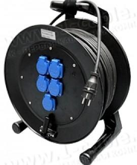 Фото2 1K-PCRNF5/1-0.5 Силовой кабельный удлинитель на катушке, 5 гнезд SCHUKO > штекер SCHUKO, IP44
