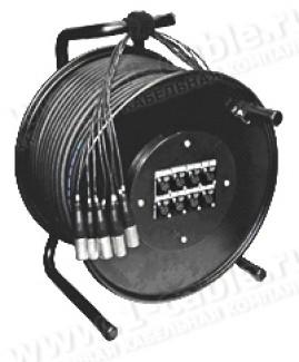 Фото2 1K-PS16/4RX-1.0 20-кан.(16-IN/4-OUT) туровая аудио мультикорная система на катушке (16x XLR3 гнездо,