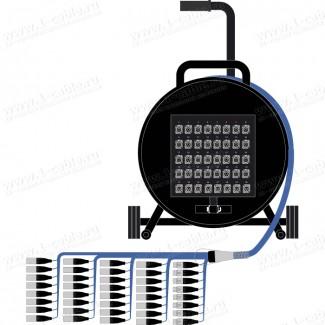 Фото1 1K-PS32/8RX-0.. 40-кан.(32-IN/8-OUT) туровая аудио мультикорная система на катушке (32x XLR3 гнездо,