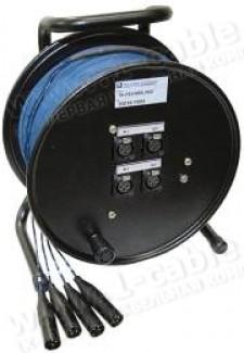 Фото2 1K-PS4/0RX-1.. 4-кан.(4-IN) туровая аудио мультикорная система на катушке (4x XLR3 гнездо) > коса (4
