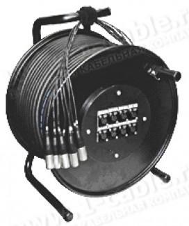 Фото2 1K-PW10/0RX-1.0 10-кан. (10-IN) студийная аудио мультикорная система на катушке (10x XLR3 гнездо) >