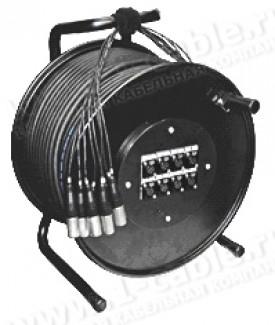 Фото2 1K-PW12/4RX-1.. 16-кан.(12-IN/4-OUT) студийная аудио мультикорная система на катушке (12x XLR3 гнезд