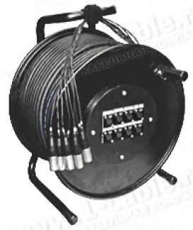 Фото2 1K-PW16/4RX-1.0 20-кан.(16-IN/4-OUT) студийная аудио мультикорная система на катушке (16x XLR3 гнезд
