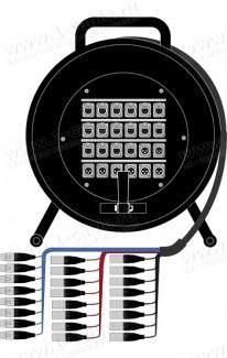 Фото1 1K-PW16/8RX-1.. 24-кан.(16-IN/8-OUT) студийная аудио мультикорная система на катушке (16x XLR3 гнезд