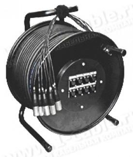 Фото2 1K-PW20/4RX-0.. 24-кан.(20-IN/4-OUT) студийная аудио мультикорная система на катушке (20x XLR3 гнезд