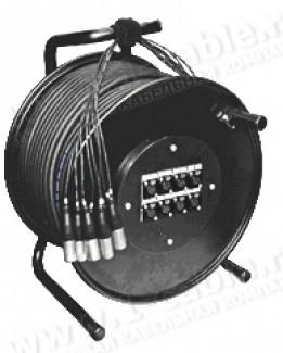 Фото2 1K-PW4/0RX-1.. 4-кан.(4-IN) студийная аудио мультикорная система на катушке (4x XLR3 гнездо) > коса