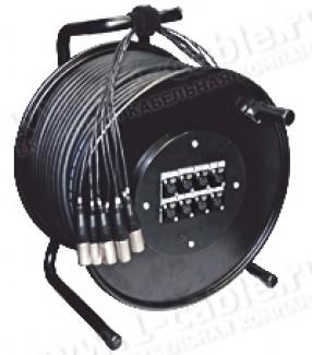 Фото2 1K-PW8/0RX-1.. 8-кан.(8-IN) студийная аудио мультикорная система на катушке (8x XLR3 гнездо) > коса