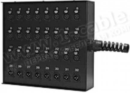 Фото2 1K-SB32/8-X. 40-кан.(32-IN/8-OUT) коммутационная коробка в сборе Stage Box (32x XLR3 гнездо, 8x XLR3